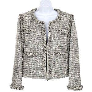 J. Crew tweed career jacket / blazer w/ raw edges